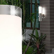 MIA Light Außen Sensor Wandleuchte / Bewegungsmelder / Wandlampe Sensorleuchte Außenleuchte Sensorlampe / Edelstahl