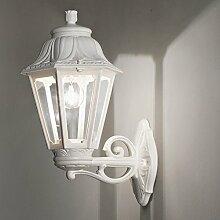 MIA Light Außen Wandleuchte Weiß / Wandlampe Außenleuchte Außenlampe Laternenleuchte Laternenlampe Laterne