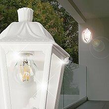 MIA Light Außen Wandleuchte Weiß/Wandlampe Außenleuchte Außenlampe Laternenleuchte Laternenlampe Laterne
