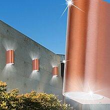 MIA Light Außen Wandstrahler / Kupfer / Up & Down / Wandleuchte Wandlampe Fassadenstrahler Außenleuchte