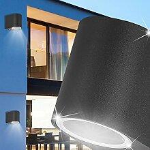 MIA Light Außen Wandstrahler / Schwarz / Wandleuchte Wandlampe Fassadenstrahler Außenleuchte