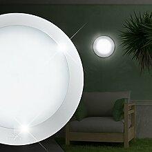 MIA Light Decken Leuchte AUSSEN Ø200mm/ Weiß/ Alu/ Lampe Aussenlampe Aussenleuchte Deckenlampe Deckenleuchte