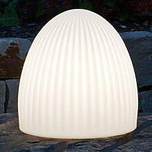 MIA Light Deko Käfig Leuchte AUSSEN Ø370mm/ Modern/ Weiß/ Kunststoff/ Lampe Aussenlampe Aussenleuchte Gartenlampe Gartenleuchte