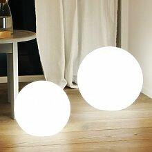 MIA Light Deko Kugel Leuchte AUSSEN Ø400mm/ Modern/ Weiß/ Kunststoff/ Lampe Aussenlampe Aussenleuchte Gartenlampe Gartenleuchte