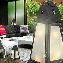 MIA Light Deko Laternen Leuchte AUSSEN Ø200mm/ LED/ Schwarz/ Alu/ Lampe Aussenlampe Aussenleuchte Gartenlampe Gartenleuchte