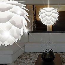 MIA Light Design Hänge Leuchte Ø450mm/ Weiß/ Kunststoff/ Pendel Lampe Hängelampe Hängeleuchte Pendellampe Pendelleuchte