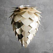 MIA Light Design Hängeleuchte aus Messing in Zapfenform