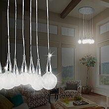 MIA Light Design Hängeleuchte Glühbirne im Retro Stil in chrom