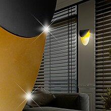 MIA Light Design LED Wandleuchte aus Alu in schwarz und goldfarben
