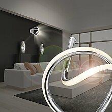 MIA Light Design LED Wandleuchte Schleife aus Acrylrohr weiß in chrom