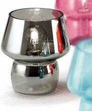 MIA Light Design Tisch Leuchte ↥180mm/ Retro/ Grau/ Glas/ Nacht Lampe Mundgeblasen Nachttischlampe Nachttischleuchte Tischlampe Tischleuchte