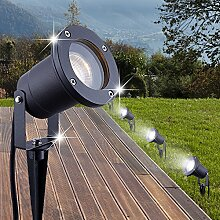 MIA Light Erdspieß Strahler ↥325mm/ Anthrazit/ Alu/ AUSSEN Lampe Leuchte Aussenlampe Aussenleuchte Aussenstrahler Erdspießstrahler Gartenlampe Gartenleuchte