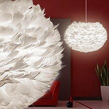 MIA Light Feder Hänge Leuchte Ø450mm/ Design/ Weiß/ Pendel Lampe Hängelampe Hängeleuchte Pendellampe Pendelleuchte