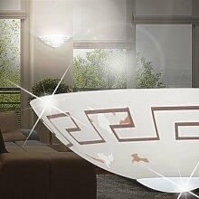 MIA Light Halbrunde Wandleuchte aus Glas in weiß