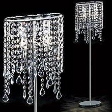MIA Light Kristall Steh ↥1560mm/ Modern/ Chrom/ Stand Kristalllampe Kristallleuchte Standlampe Standleuchte Stehlampe Stehleuchte