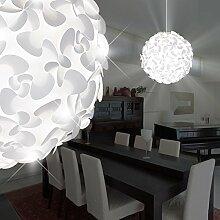 MIA Light Kugel Hänge Leuchte Modern/ Weiß/ Kunststoff/ Pendel Lampe Puzzle