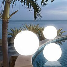 MIA Light Kugelleuchte Ø50cm/ Aussen / Deko ( Kugellampe - Leuchtkugel - Lichtkugel - Gartenkugel ) Leuchtobjekt - Lichtobjekt - Aussenlampe - Aussenleuchte - Gartenlampe - Gartenleuchte - Garten - Leuchte - Lampe