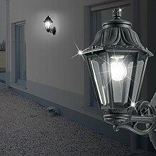 MIA Light Laterne Wand Leuchte AUSSEN Ø220mm/ Klassisch/ Schwarz/ Alu/ Lampe Aussenlampe Aussenleuchte Wandlampe Wandleuchte