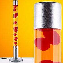 MIA Light Lava Lampe 760mm/ 1x40W/ Rot/ Gelb/ Lavaleuchte Magma Deko Leuchte