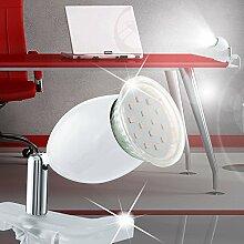 MIA Light LED Klemm ↥130mm/ Weiß/ Lampe Bürolampe Büroleuchte Klemmlampe Klemmleuchte