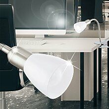 MIA Light LED Klemm ↥260mm/ Silber/ Lampe Bürolampe Büroleuchte Klemmlampe Klemmleuchte
