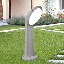 MIA Light LED Pollerleuchte Grau/Sockelleuchte Wegeleuchte Wegleuchte Außenleuchte Gartenleuchte Pollerlampe Sockellampe Wegelampe Weglampe Außenleuchte