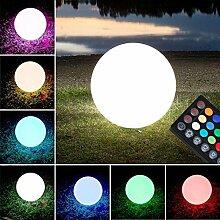MIA Light LED - RGB - Akku Kugelleuchte Ø30cm/ Aussen / Deko / Kugellampe - Leuchtkugel - Lichtkugel - Gartenkugel - Leuchtobjekt - Lichtobjekt - Aussenlampe - Aussenleuchte - Gartenlampe - Gartenleuchte - Garten - Leuchte - Lampe