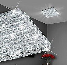 MIA Light Moderne Deckenleuchte mit Kristallen und