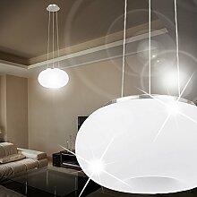 MIA Light Moderne Hängeleuchte aus Glas weiß in