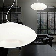 MIA Light Moderne Hängeleuchte aus Glas weiß