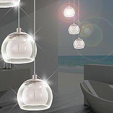 MIA Light Moderne LED Hängeleuchte aus Glas weiß