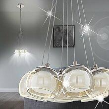 MIA Light Moderne LED Hängeleuchte Halbkugel aus