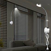 MIA Light Moderne LED Wandleuchte aus Glas