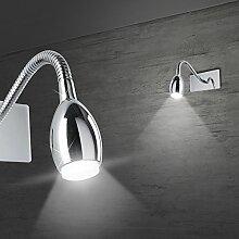 MIA Light Moderne LED Wandleuchte in chrom mit