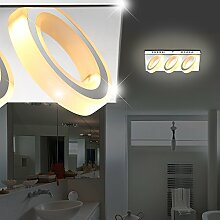 MIA Light Moderne LED Wandleuchte mit 3 Ringen aus Acryl satiniert in chrom
