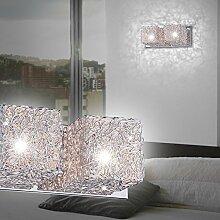 MIA Light Moderne Wandleuchte mit 2 Würfeln aus