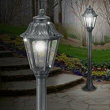MIA Light Pollerleuchte Schwarz/Sockelleuchte Wegeleuchte Wegleuchte Außenleuchte Gartenleuchte Pollerlampe Sockellampe Wegelampe Weglampe Außenleuchte Laternenleuchte Laternenlampe Laterne