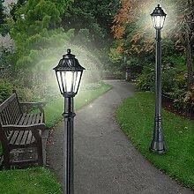 MIA Light Pollerleuchte Schwarz / Sockelleuchte Wegeleuchte Wegleuchte Außenleuchte Gartenleuchte Pollerlampe Sockellampe Wegelampe Weglampe Außenleuchte Laternenleuchte Laternenlampe Laterne