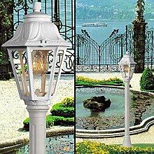MIA Light Pollerleuchte Weiß/Sockelleuchte Wegeleuchte Wegleuchte Außenleuchte Gartenleuchte Pollerlampe Sockellampe Wegelampe Weglampe Außenleuchte Laternenleuchte Laternenlampe Laterne
