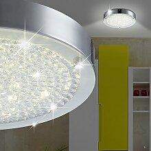 MIA Light Runde LED Deckenleuchte aus Glas