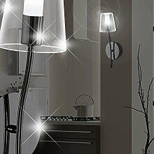MIA Light Runde LED Wandleuchte mit Schirm aus Glas klar in schwarz