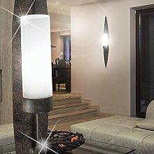 MIA Light Rustikale Wandfackel aus Glas