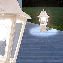 MIA Light Sockelleuchte Weiß/Pollerleuchte Wegeleuchte Wegleuchte Außenleuchte Gartenleuchte Sockellampe Pollerlampe Wegelampe Weglampe Außenleuchte Laternenleuchte Laternenlampe Laterne