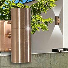 MIA Light Strahler Wand Leuchte AUSSEN Ø63mm/ Modern/ Kupfer/ Kupfer/ Lampe Aussenlampe Aussenleuchte Wandlampe Wandleuchte Wandspot Wandstrahler