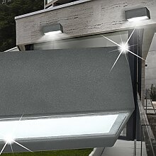 MIA Light Strahler Wand Leuchte AUSSEN Modern/ Anthrazit/ Metall/ Lampe Aussenlampe Aussenleuchte Wandlampe Wandleuchte
