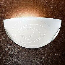 MIA Light Wand Leuchte Ø300mm/ Weiß/Glas/ Lampe