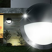 MIA Light Wand Leuchte AUSSEN Ø300mm/ Schwarz/ Alu/ Lampe Aussenlampe Aussenleuchte Wandlampe Wandleuchte