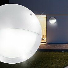MIA Light Wand Leuchte AUSSEN Ø300mm/ Weiß/ Alu/ Lampe Aussenlampe Aussenleuchte Wandlampe Wandleuchte