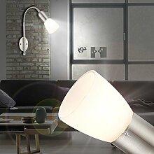 MIA Light Wandleuchte aus Edelstahl in silber mit Flexarm