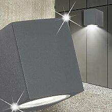 MIA Light Würfel Wand Leuchte AUSSEN Klassisch/Anthrazit/Metall/Lampe Aussenlampe Aussenleuchte Wandlampe Wandleuchte